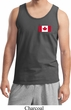 Mens Canada Tank Top Canadian Flag Pocket Print Tanktop