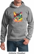 Mens Cat Hoodie Blue Eyes Cat Hoody