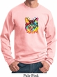 Mens Cat Sweatshirt Blue Eyes Cat Sweat Shirt