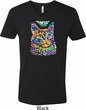 Mens Cat Tee Love Cat V-neck Shirt