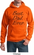 Mens Dad Hoodie Best Dad Ever Black Print Hoody