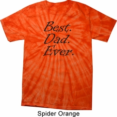 Mens Dad Shirt Best Dad Ever Black Print Spider Tie Dye Tee T-shirt