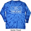 Mens Distressed Ford Trucks Long Sleeve Tie Dye Shirt