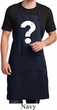 Mens Distressed Question Full Length Apron with Pockets