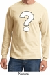 Mens Distressed Question Long Sleeve Shirt