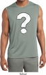 Mens Distressed Question Sleeveless Moisture Wicking Shirt