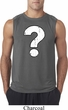 Mens Distressed Question Sleeveless Shirt