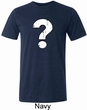 Mens Distressed Question Tri Blend Crewneck Shirt