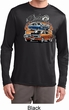 Mens Dodge Blue and Orange Super Bee Dry Wicking Long Sleeve