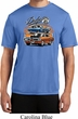 Mens Dodge Blue and Orange Super Bee Dry Wicking T-shirt