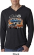 Mens Dodge Blue and Orange Super Bee Lightweight Hoodie Tee