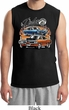 Mens Dodge Blue and Orange Super Bee Muscle Shirt