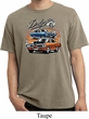 Mens Dodge Blue and Orange Super Bee Pigment Dyed T-shirt