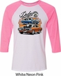 Mens Dodge Blue and Orange Super Bee Raglan