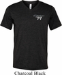 Mens Dodge Challenger 1974 Pocket Print Tri Blend V-neck Shirt
