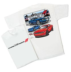 Mens Dodge Challenger R/T Tee Shirt - White
