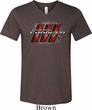 Mens Dodge Charger RT Logo Tri Blend V-neck Shirt