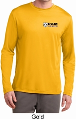 Mens Dodge Hemi Pocket Print Moisture Wicking Long Sleeve Shirt