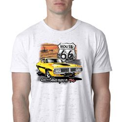 Mens Dodge Route 66 Charger RT Burnout Shirt