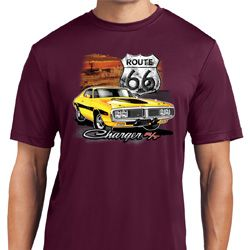 Mens Dodge Route 66 Charger RT Moisture Wicking Shirt