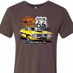 Mens Dodge Route 66 Charger RT Tri Blend Crewneck Shirt
