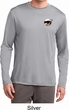 Mens Dodge Scat Pack Logo Pocket Print Dry Wicking Long Sleeve Shirt