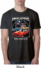 Mens Dodge Shirt Chrysler American Made Burnout Tee T-Shirt