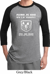 Mens Dodge Shirt Guts and Glory Ram Logo Raglan Tee T-Shirt