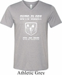 Mens Dodge Shirt Guts and Glory Ram Logo Tri Blend V-neck Tee T-Shirt