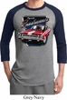 Mens Dodge Shirt Plymouth Roadrunner Raglan Tee T-Shirt