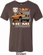 Mens Dodge Shirt Ram Hemi Trucks Tri Blend Crewneck Tee T-Shirt