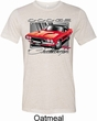 Mens Dodge Shirt Red Challenger Tri Blend Crewneck Tee T-Shirt