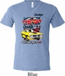 Mens Dodge Shirt Vintage Chargers Tri Blend V-neck Tee T-Shirt