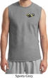Mens Dodge Super Bee Logo Pocket Print Muscle Shirt