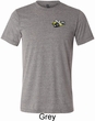 Mens Dodge Super Bee Logo Pocket Print Tri Blend Crewneck Shirt
