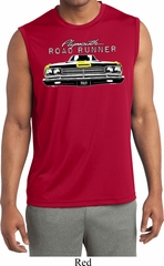 Mens Dodge Yellow Plymouth Roadrunner Sleeveless Dry Wicking Shirt