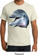 Mens Dolphin Shirt Big Dolphin Face Organic T-Shirt