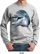 Mens Dolphin Sweatshirt Big Dolphin Face Sweat Shirt