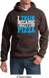 Mens Fitness Hoodie I Train For Pizza Hoody