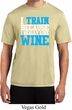Mens Fitness Shirt I Train For Wine Moisture Wicking Tee T-Shirt