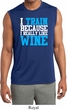 Mens Fitness Shirt I Train For Wine Sleeveless Moisture Wicking Tee