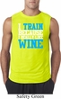 Mens Fitness Shirt I Train For Wine Sleeveless Tee T-Shirt
