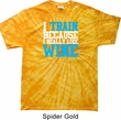 Mens Fitness Shirt I Train For Wine Spider Tie Dye Tee T-shirt