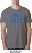 Mens Fitness Shirt I Work Out Burnout Tee T-Shirt
