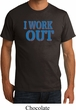 Mens Fitness Shirt I Work Out Organic Tee T-Shirt