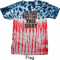Mens Fitness Shirt Id Flex Patriotic Tie Dye Tee T-shirt