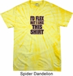 Mens Fitness Shirt Id Flex Spider Tie Dye Tee T-shirt