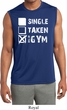 Mens Fitness Shirt Single Taken Gym Sleeveless Moisture Wicking Tee