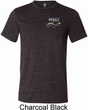 Mens Ford 1974 Cobra Profile Pocket Print Tri Blend Crewneck Shirt