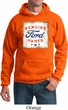 Mens Ford Hoodie Distressed Genuine Ford Parts Hoody